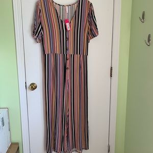 NWT Xhilaration striped jumpsuit